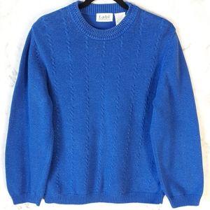 Vintage Cotton Blend Crew Neck Sweater Tabi M